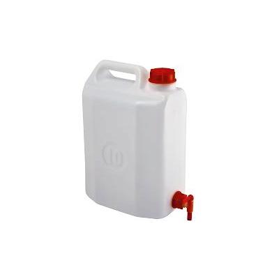 Μπιτόνι Πλαστικό Λευκό 10Λ Με Βρύση